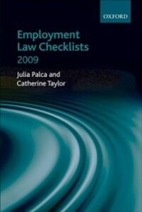 Ebook in inglese Employment Law Checklists 2009 -, -