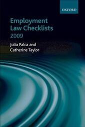 Employment Law Checklists 2009