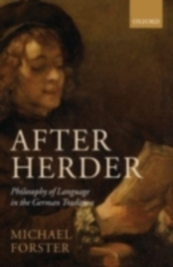 Ebook in inglese After Herder: Philosophy of Language in the German Tradition Forster, Michael N.