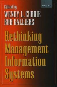 Foto Cover di Rethinking Management Information Systems: An Interdisciplinary Perspective, Ebook inglese di  edito da OUP Oxford