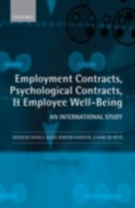 Ebook in inglese Employment Contracts, Psychological Contracts, and Employee Well-Being: An International Study