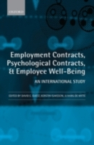 Ebook in inglese Employment Contracts, Psychological Contracts, and Employee Well-Being: An International Study -, -