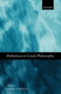 Ebook in inglese Definition in Greek Philosophy -, -