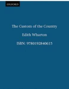 Ebook in inglese Custom of the Country Wharton, Edith