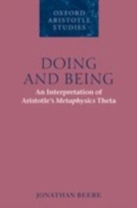 Ebook in inglese Doing and Being: An Interpretation of Aristotle's Metaphysics Theta Beere, Jonathan