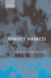 Ebook in inglese Annuity Markets Cannon, Edmund , Tonks, Ian