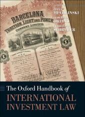 Oxford Handbook of International Investment Law