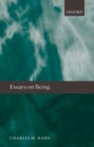 Foto Cover di Essays on Being, Ebook inglese di Charles H. Kahn, edito da OUP Oxford