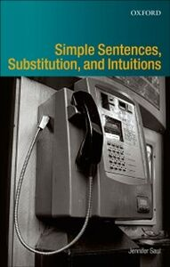 Foto Cover di Simple Sentences, Substitution, and Intuitions, Ebook inglese di Jennifer M. Saul, edito da OUP Oxford