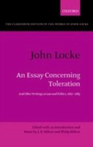 Ebook in inglese John Locke: An Essay concerning Toleration: And Other Writings on Law and Politics, 1667-1683 -, -
