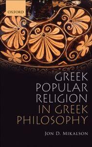 Ebook in inglese Greek Popular Religion in Greek Philosophy Mikalson, Jon