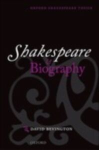 Ebook in inglese Shakespeare and Biography Bevington, David