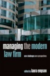 Ebook in inglese Managing the Modern Law Firm: New Challenges, New Perspectives -, -