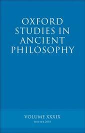 Oxford Studies in Ancient Philosophy volume 39