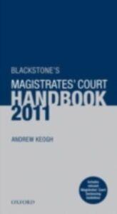 Ebook in inglese Blackstone's Magistrates' Court Handbook 2011