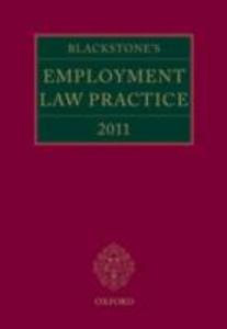 Ebook in inglese Blackstone's Employment Law Practice 2011 -, -