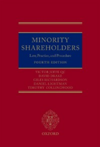Ebook in inglese Minority Shareholders: Law, Practice and Procedure Collingwood, Tim , Drake, David , Joffe QC, Victor , Lightman, Daniel