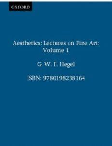 Foto Cover di Aesthetics: Volume 1, Ebook inglese di G. W. F. Hegel, edito da Clarendon Press