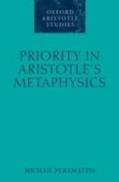 Priority in Aristotle's Metaphysics