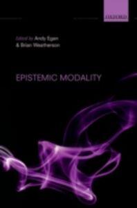 Foto Cover di Epistemic Modality, Ebook inglese di  edito da OUP Oxford