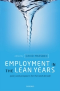Ebook in inglese Employment in the Lean Years: Policy and Prospects for the Next Decade -, -