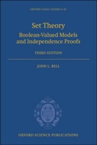 Foto Cover di Set Theory: Boolean-Valued Models and Independence Proofs, Ebook inglese di George Berkeley, edito da Clarendon Press
