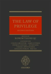 Ebook in inglese Law of Privilege Carpenter, Chloe , Cutress, James , Goodall, Patrick , King, Henry