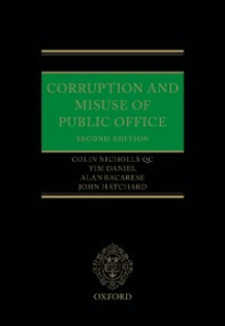 Ebook in inglese Corruption and Misuse of Public Office Bacarese, Alan , Daniel, Timothy , Hatchard, John , Nicholls QC, Colin