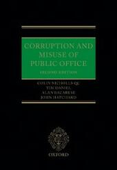 Corruption and Misuse of Public Office