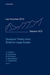 Quantum Theory from Small to Large Scales: Lecture Notes of the Les Houches Summer School: Volume 95, August 2010