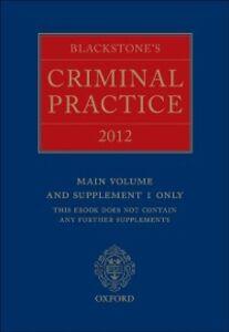 Ebook in inglese Blackstone's Criminal Practice 2012 (book only)