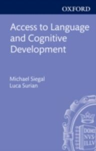 Ebook in inglese Access to Language and Cognitive Development -, -