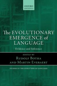 Ebook in inglese Evolutionary Emergence of Language: Evidence and Inference -, -