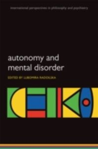 Ebook in inglese Autonomy and Mental Disorder -, -