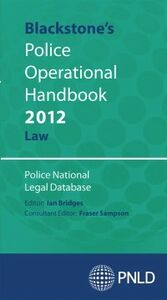 Ebook in inglese Blackstone's Police Operational Handbook 2012: Law