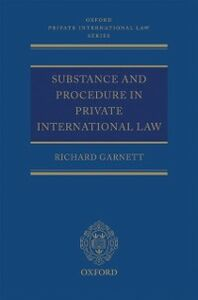 Ebook in inglese Substance and Procedure in Private International Law Garnett, Richard