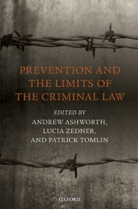 Ebook in inglese Prevention and the Limits of the Criminal Law -, -
