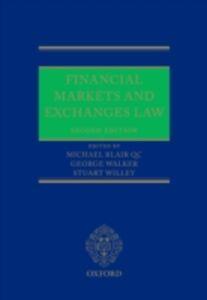 Foto Cover di Financial Markets and Exchanges Law, Ebook inglese di  edito da OUP Oxford