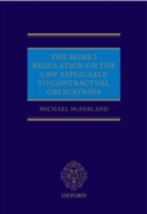 Ebook in inglese Rome I Regulation on the Law Applicable to Contractual Obligations McParland, Michael