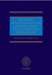 Rome I Regulation on the Law Applicable to Contractual Obligations
