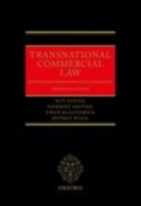 Foto Cover di Transnational Commercial Law: International Instruments and Commentary, Ebook inglese di AA.VV edito da OUP Oxford