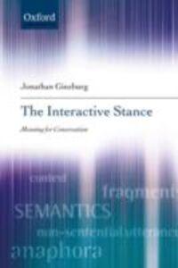 Ebook in inglese Interactive Stance Ginzburg, Jonathan