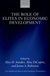 Ebook in inglese Role of Elites in Economic Development -, -