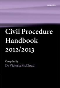Ebook in inglese Civil Procedure Handbook 2012/2013 McCloud, Victoria