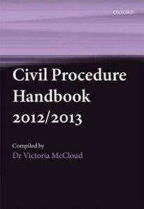 Foto Cover di Civil Procedure Handbook 2012/2013, Ebook inglese di Victoria McCloud, edito da OUP Oxford