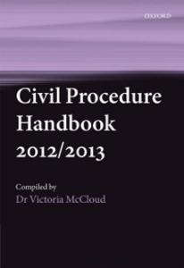 Ebook in inglese Civil Procedure Handbook 2012/2013 McCloud, Victoria