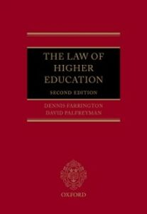 Ebook in inglese Law of Higher Education