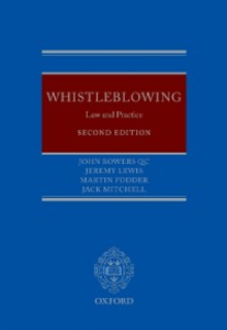 Ebook in inglese Whistleblowing: Law and Practice Bowers QC, John , Fodder, Martin , Lewis, Jeremy , Mitchell, Jack