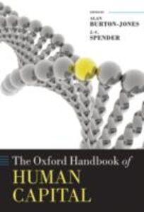 Ebook in inglese Oxford Handbook of Human Capital Becker, Gary S.