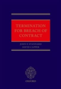Ebook in inglese Termination for Breach of Contract Capper, David , Stannard, John
